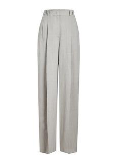 Jil Sander Navy High-Waist Wide Leg Pants