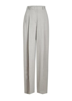 Jil Sander Navy High-Waist Wide Leg Pants