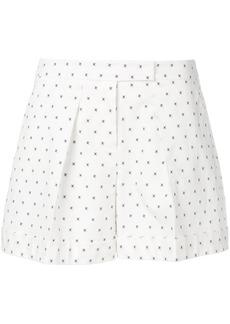 Jil Sander Navy cross pattern shorts - White