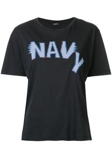 Jil Sander Navy embroidered logo T-shirt - Blue