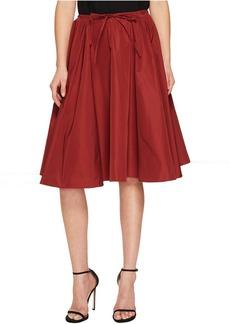 Jil Sander Navy Faille Skirt with Drawstring Waist