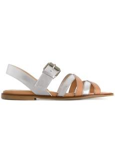 Jil Sander Navy flat strappy sandals - Metallic