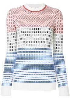 Jil Sander Navy graphic knit sweater - Multicolour