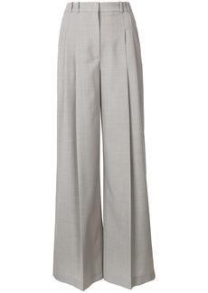 Jil Sander Navy high waist tailored wide trousers - Grey