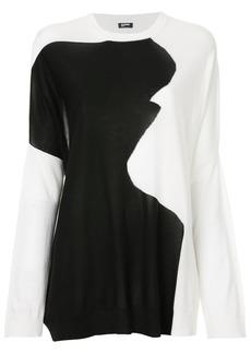 Jil Sander Navy loose colourblock sweater - Black