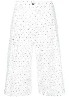 Jil Sander Navy micro-print culottes - White