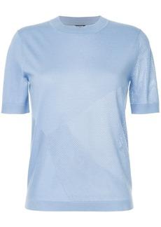 Jil Sander Navy panelled knitted T-shirt - Blue