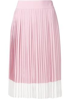 Jil Sander Navy pleated midi skirt - Pink & Purple