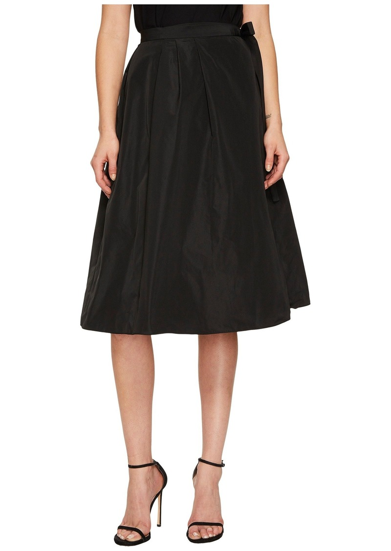Jil Sander Navy Pleated Wrap Skirt