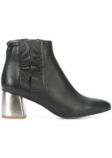 Jil Sander Navy ruffle trim ankle boots - Black