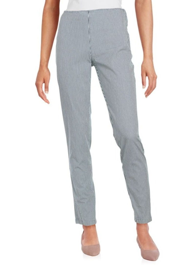 Jil Sander Navy Striped Zipped Pants
