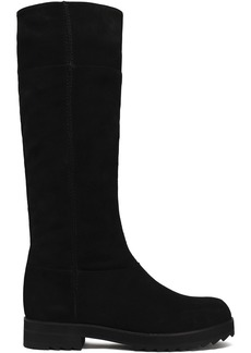 Jil Sander Navy Woman Suede Knee Boots Black