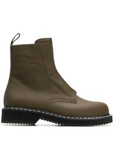 Jil Sander Navy laceless ankle boots
