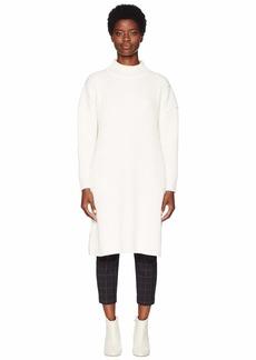 Jil Sander Navy Long Sleeve Long and Wide Turtleneck Knit