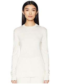 Jil Sander Navy Long Sleeve Round Collar Knit
