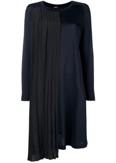 Jil Sander Navy mid-length contrasting dress