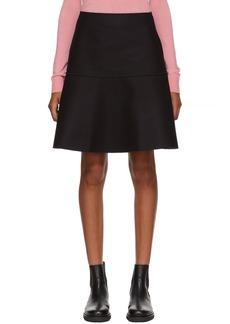 Jil Sander Navy Navy Wool Felt Miniskirt