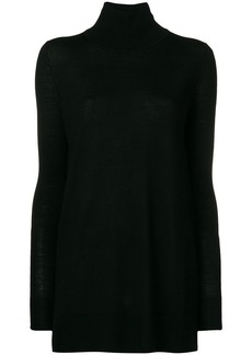 Jil Sander Navy oversized roll neck sweater