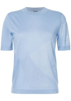 Jil Sander Navy panelled knitted T-shirt