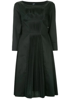 Jil Sander Navy pleated shift dress