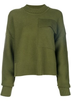 Jil Sander Navy pocket jumper