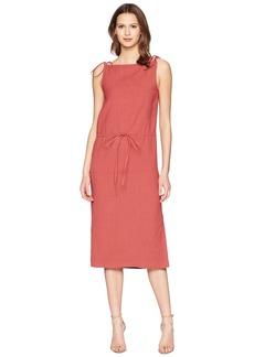 Jil Sander Navy Rayon Mix Strap Dress