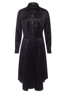 Jil Sander Navy Satin Tunic Dress
