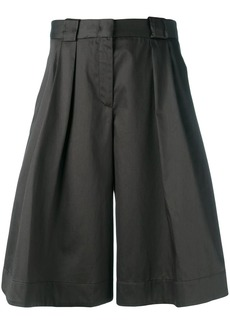 Jil Sander Navy shiny wide leg shorts