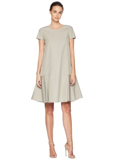 Jil Sander Navy Short Sleeve Cotton Dress