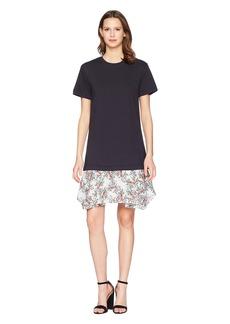 Jil Sander Navy Short Sleeve Jersey T-Shirt Dress