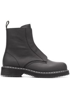 Jil Sander Navy side zip booties