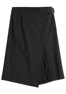 Jil Sander Navy Skirt with Virgin Wool