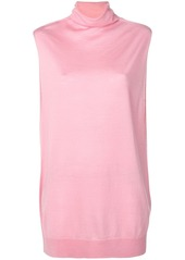 Jil Sander Navy sleeveless oversized top