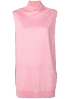 Jil Sander Navy sleeveless oversized top