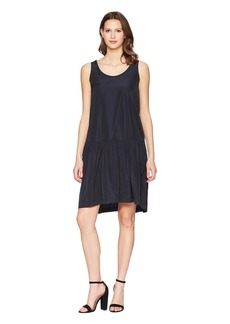 Jil Sander Navy Sleeveless Taffetas Dress
