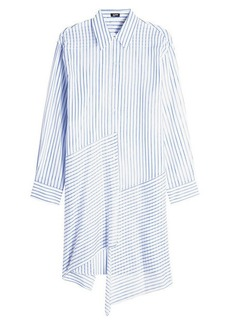 Jil Sander Navy Striped Cotton Dress