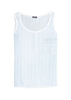 Jil Sander Navy Striped Cotton Top