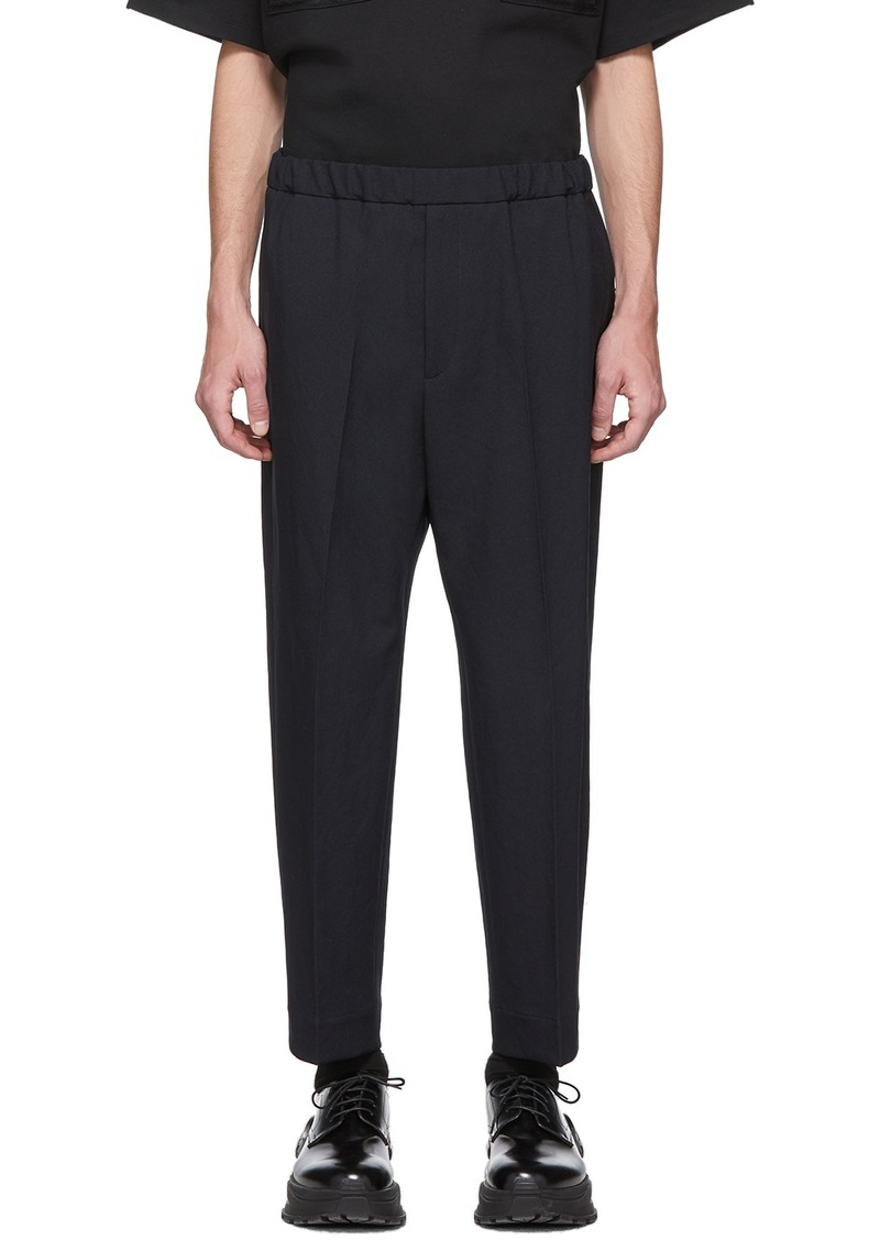 Jil Sander Navy Twill Trousers