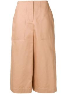 Jil Sander Navy wide leg cropped trousers