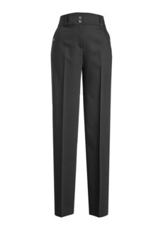 Jil Sander Navy Wide-Leg Straight Pants with Wool