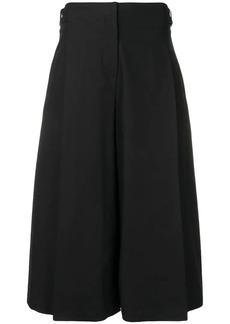 Jil Sander Navy wide pleat detailed trousers