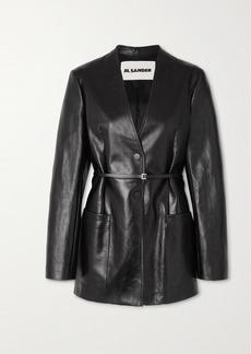 Jil Sander Nessa Belted Leather Blazer