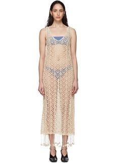 Jil Sander Off-White Crochet Dress