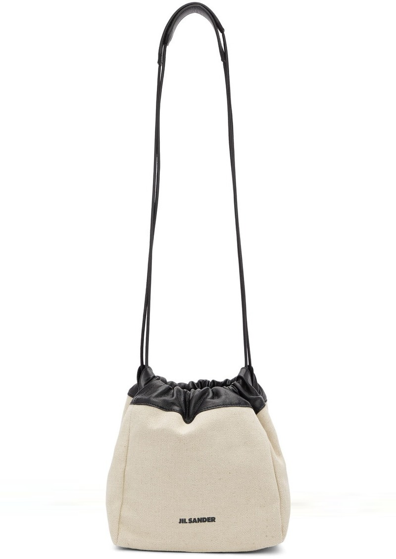 Jil Sander Off-White Small Canvas Drawstring Bag