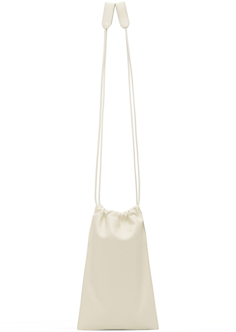 Jil Sander Off-White XS Flat Drawstring Bag