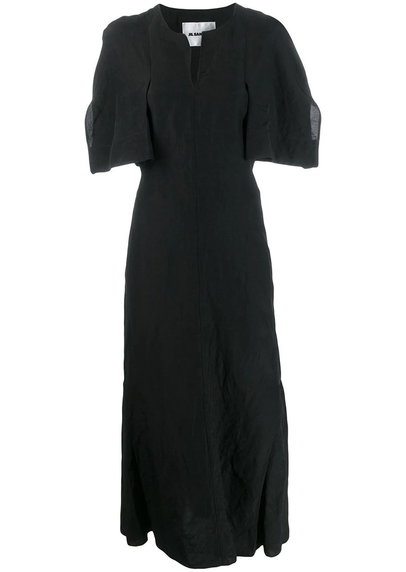 Jil Sander open collar dress