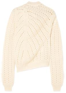 Jil Sander Open-knit mohair and silk-blend turtleneck sweater