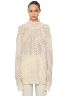 Jil Sander Over Mohair & Silk Sheer Knit Sweater