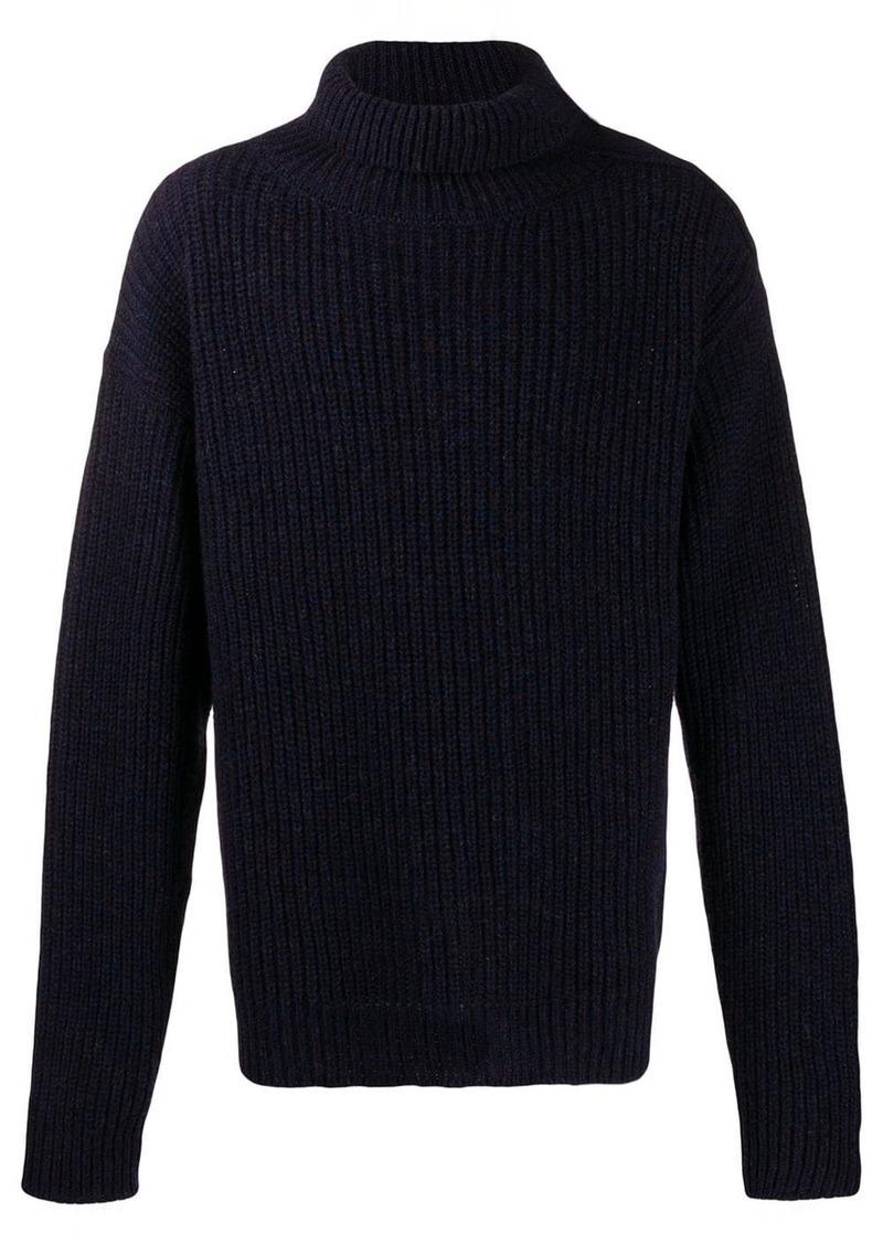 Jil Sander oversized adjustable neck sweater