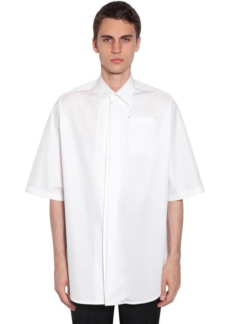 Jil Sander Oversized Cotton Poplin Shirt